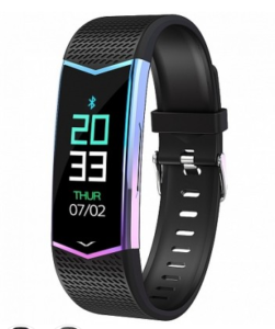 Фитнес браслет GSMIN WR21 (2019) с измерением давления и пульса Черный