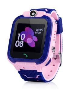 Детские GPS Часы-Телефон GW600S Водостойкие ip67 розовые Wonlex