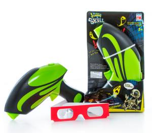 Бластер для проекционного 3d тира зелёный с очками