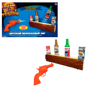 Детский безопасный тир Wild West Gunslinge стрельба по бутылкам