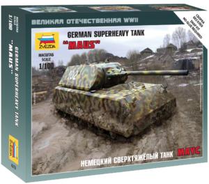модель немецкого сверхтяжелого танка Маус, 1:100 ЗВЕЗДА
