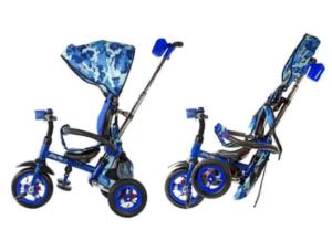 Трехколесный велосипед Junior-2 - Army (свет, звук), синий